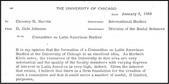 Committee on Latin American Studies Letter