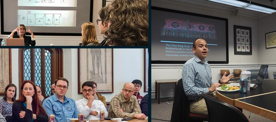 Photo collage of image of CLAS events, attendees and speakers